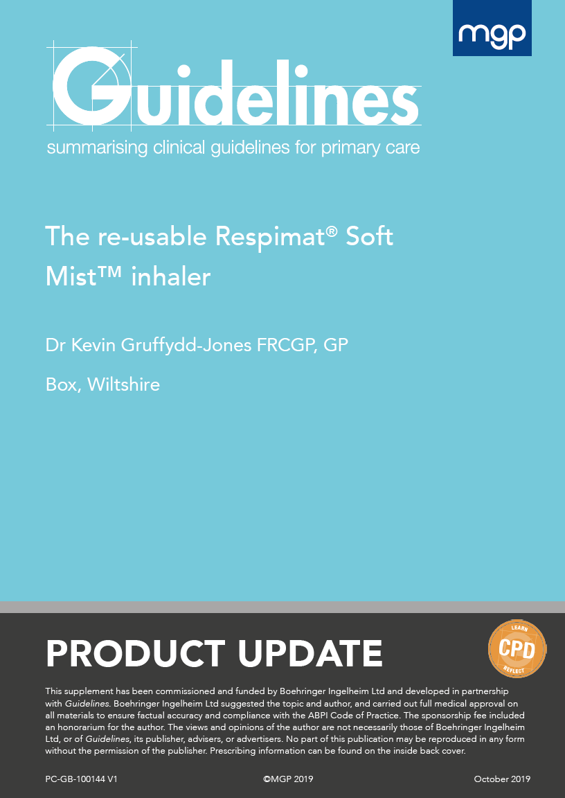 The Re Usable Respimat Soft Mist Inhaler Supplement Guidelines