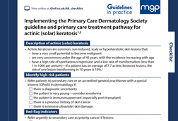 Guidelines for Pharmacy - summarising clinical guidelines for community  pharmacy