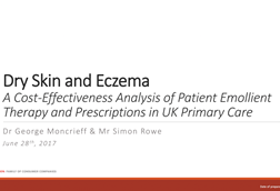 Dry skin and eczema—a cost effectiveness analysis of patient emollient therapy and prescriptions in uk primary care