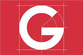 g logo sign red
