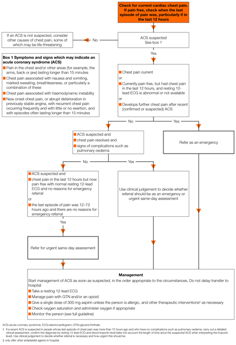 NICE chest pain guideline | NICE guideline | Guidelines