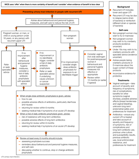 Nice Recurrent Urinary Tract Infections Antimicrobial Prescribing Nice Guideline Guidelines