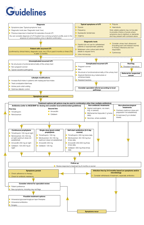 Uncomplicated Recurrent Uti Guideline Working Party Guideline Algorithm Guidelines
